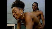 Impressive ebony bitch with small tits Mia gets hard black dick fuck on a table