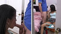 Stepmom Kendra Lust Has FFM Threesome With Young Veronica Rodriguez