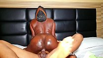 Black petite teen rides a fat long cock of collage bf