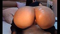 Big ass with a big dildo