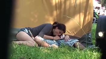 Spy Cam Sex Public By Amateur Teen Couple Caught At Music Festival Outside