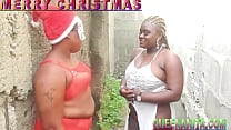 African Gift With Her Friend Attended A Christmas Partyarty In The Farm And Got Fucked