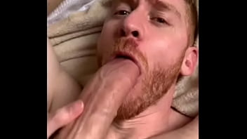 Skinny guy with monster white cock fucks submissive muscular bitch