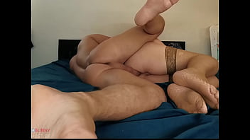 Slow anal with chubby girlfriend. Creampie.