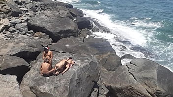 Gangbang at apricot beach in Rio de Janeiro