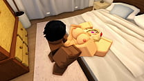 [ROBLOX PORN] Thick blonde bitch gets her first BBC