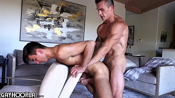 Travis Splits Oliver's Tight Virgin Ass For The First Time Ever In A Sexy FlipFuck!