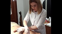 Depilation mistress SugarNadya makes a haircut with a pubic,dick trimmer and anus shaving - I put it on all fours