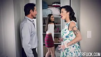 Foster Daughter Seems To Like The Punishment- Aria Lee, Joslyn James