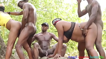 African filthy collage turns an out door party in to a wild fuck ,some where in Africa part 2