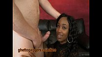 Black Stripper Goes Deep Down White Dicks