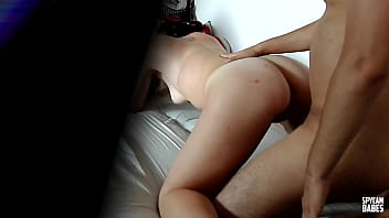 Real hidden camera catching couple having sex