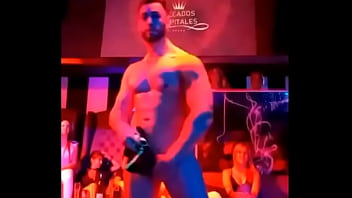 Male Stripper Shows His Hard Dick