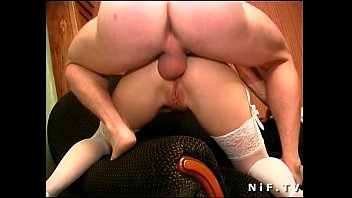 Naughty french blonde in white panties gets analized
