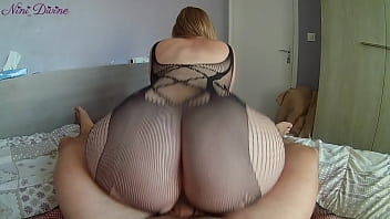 I fuck my hot young stepsister's big ass in sexy bodysuit!