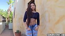 Asian girl has the weirdest tight pussy