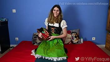 German Bavarian Anal Vegetable and Eggs Insertion for Easter