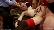 Slaves rough anal fucked and whipped