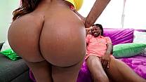 Black BBW catches her stepson jerking off to porn - ebony porn