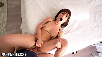 Hot Kiara Edwards In Camouflage Bikini For Deep Pounding