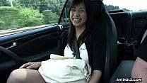 Japanese brunette, Karin Asahi sucks dick, uncensored