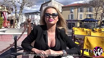 Sexy blonde Joanna Bujoli having a naughty hard sex