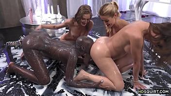 Bald black babe squirt between white chicks - Malena Nazionale, Cherry Kiss, Tiffany Tatum and Zaawaadi