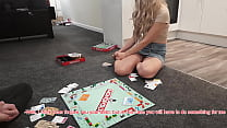 Naive best Friend's Wife Gets Fucked to Pay Debts in Monopoly (board Game). She took the Condom off to make my Flaccid Dick Hard again but Asked not to Cum Inside.