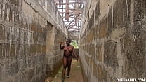 The Uncompleted Building That Girls Are Living Naked And Fucked Anybody That Passed In The Local Bush