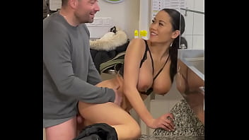 Good sex in the restaurant with busty Asian French Mailyne 10 min