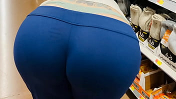 Mom Fat Booty Public Wedgie and Whale Tail Shopping