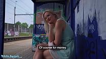 Public Agent Big Tits Blonde Lily Joy Fucked Behind Train Station
