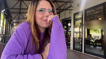 she uses a bluetooth vibrator in public   Western guy & Mia Natalia Vlogs ep.4