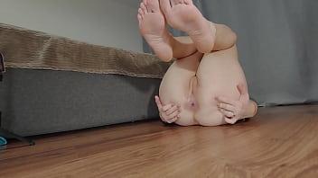 Alice fucks her ass with a big dildo