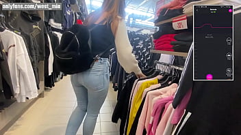 She tests a new Bluetooth toy vibrator in a Mall   Western guy & Mia Natalia vlogs