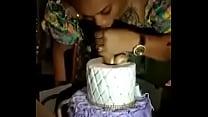 Birthday Girl Gives Her Cake Some Sloppy Toppy