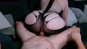 I fuck my stepmom's big ass in her tight lingerie!