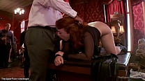 Slaves spanked and anal fucked at party