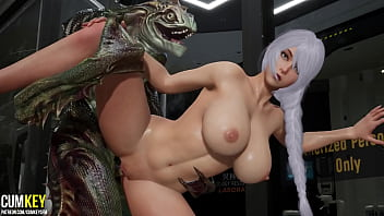 Bitch With Big Tits Was Fucked By Lizard Man   3D Porn Hentai   Fallen Doll