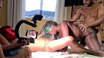 Making of da gravação com a mulata gostosa Jhey Black fazendo anal em video pela primeira vez em dezembro de 2020 gravado pela Lua Doidera - Leo Ogro
