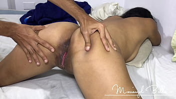Latina Babe With Creamy Pussy Gets a Dripping Creampie - Mariangel Belle (Bareback and Hardcore Between Cousins)