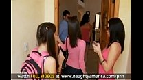 FOUR GIRLS fuck and suck ONE GUY 6 min