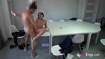 HOT FOR TEACHER: Busty Spanish mommy bangs her own student!