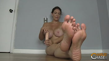 Busty Cock Stroking MILF Charlee Chase Wants You To Smell Her Big Feet 6 min