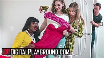 Hotties (Britney Amber, Ana Foxxx, Mary Moody) Satisfy Each Others Pussy - DigitalPlayground
