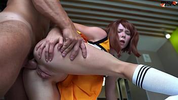 Cheerleader Ochako Uraraka Fucked Hard in Pussy and Anal