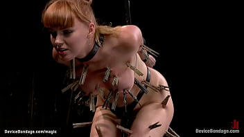 Clamped bound ginger shivering