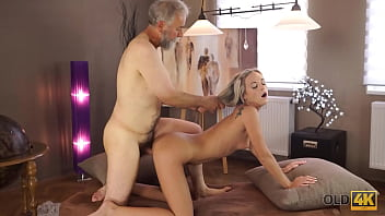 OLD4K. Mature teacher still in great shape to fuck his blond student