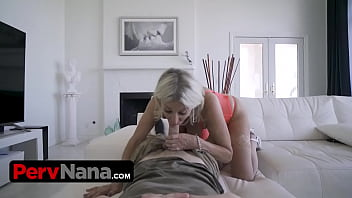 Perfect Granny With Bangin Body And Big Boobs Needs Her Step Grandson's Help For Sexual Relief