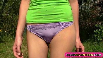 Hot slim teenie nailed outdoors 7 min